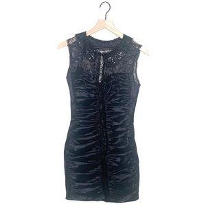 Jessica McClintock Black Sleeveless Lace Dress